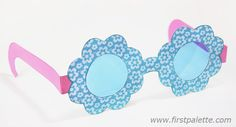 Flower Paper Eyeglasses
