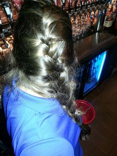 Finally figured out how to French braid!   My arms are on fire and was late for work