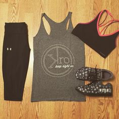 32baab0e16df5e Outfit of the week  Keep Right On tri-blend tank paired with Heatgear  Compression capris