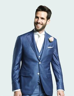 Dress to impress in this blue 3 piece suit.