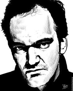 quentin tarantino movies | Quentin Tarantino - Wilson's Sketch Blog