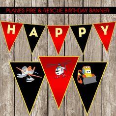 Planes Fire & Rescue Birthday Banner  Planes by LittleMsShutterbug, $7.00
