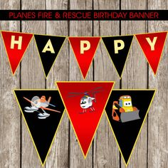 Planes Fire & Rescue Birthday Banner  Planes by LittleMsShutterbug, $7.00