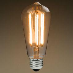 For the new entry light - LED 6 watt Edison Bulbs (60 watt equivalent).