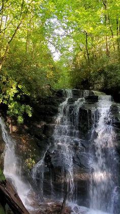 Beautiful Photos Of Nature, Amazing Nature, Beautiful Places To Travel, Nc Waterfalls, Beautiful Waterfalls, Beautiful Landscape Wallpaper, Beautiful Landscapes, Nature Photography, Landscape Photography