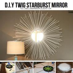 Twig starburst mirror