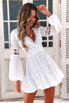 White Boho Dress, Backless Mini Dress, White Dress Summer, Cute Summer Dresses, Cute Dresses, Short Dresses, Bohemian Summer Dresses, Mini Dresses, White Lace