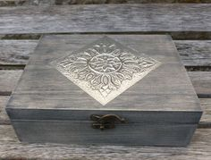 Tea Box with 6 Compartments and Pewter Detail by PewterConcepts on Etsy