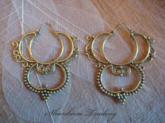 Unique Tribal Brass Earrings Indian Ethnic by ShankaraTrading AWESOME!!!!