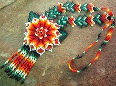 Huichol Beaded Flower Necklace,  so many beautiful things!  ;o)