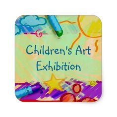 Children's Art Exhibition Sticker