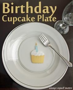 Happy Birthday Cupcake Plate