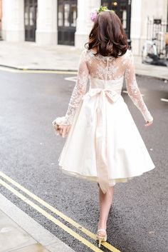 Candy Dress Back Shot #candydress #elizabethtodd #bridal #wedding #retro #chilternst