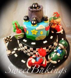 Mario Go-Kart !!! - by SweetBakings @ CakesDecor.com - cake decorating website