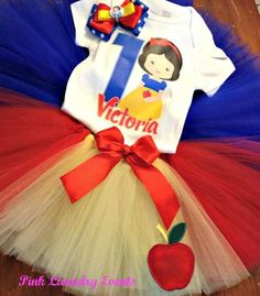 Snow White Tutu Outfit includes Tutu Onesie or by PinkLaundryEvts