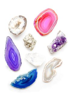 gemstone magnet set from www.liefshop.com. beautiful!
