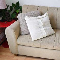 Cuscini fai da te - Cuscini con i maglioni