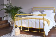 For a hit of summer colour, our ochre Oliver Bed is utterly charming. Bursting with summer hues that feel fresh and vibrant this bed is an absolute must-have for your summer bedroom.   And best of all, it has 40% off in our Summer Sale! Summer Bedroom, Under Bed Storage, Metal Beds, Bed Styling, How To Make Bed, Summer Sale, Timeless Design, King Size, Storage Spaces