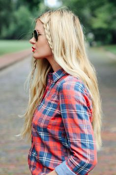 Mad About Plaid, hair style