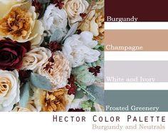 Wedding Color Pallet, Rustic Wedding Colors, Winter Wedding Colors, Wedding Color Schemes, Wedding Colors For September, Color Palette For Wedding, Color Themes For Wedding, Burgundy Wedding Colors, Fall Color Schemes