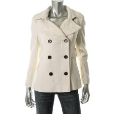 Victoria's Secret FAMOUS CATALOG MODA NEW White Wool Double Breasted Pea Coat Jacket 6 BHFO US $19.50 New without tags in Clothing, Shoes & Accessories, Women's Clothing, Coats & Jackets