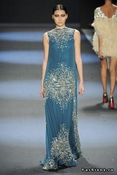 Naeem Khan осень-зима 2011-2012 / самые красивые платья звезд фото