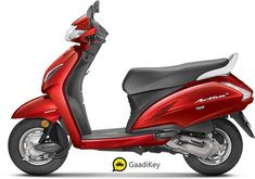 Images of Honda Activa Photos of Activa - BikeWale red color activa - Red Things Honda Scooter Models, Honda Scooters, Honda Motorcycles, Yellow And Brown, Blue And Silver, Red And Blue, Color Shades, Red Color, New Honda