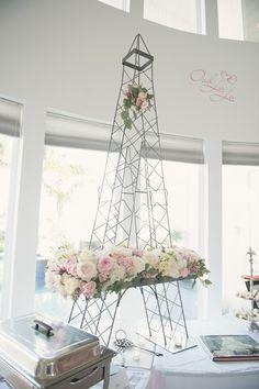 Eiffel tower centerpiece #paris #bridalshower #parisianshower