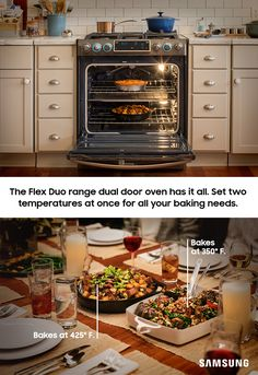 The Flex Duo range makes sure everyone in the family agrees on one thing: dinner was delicious. With a removable wall to turn one oven into two, you can make sure the casserole and the turkey are ready at the same time. Compliments to the chefs  (and their oven).