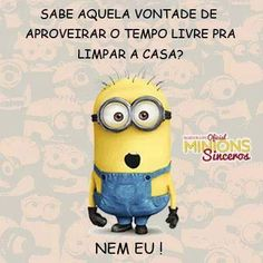 minions sinceros tempo livre Humor Minion, My Minion, Minions Quotes, Sayings And Phrases, Sarcastic Quotes, Lego Marvel, Funny Love, Funny Photos, Haha