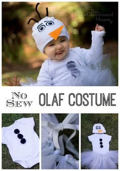 Materials: White Onesie (Long or Short Sleeve) White Baby Cap Black Grosgrain Ribbon White Grosgrain Ribbon Orange Grosgrain Ribbon 2 Black Buttons 3 Brown Pipe Cleaners 3 Large Black Poms 1 Roll White Tulle 1 Roll White Glitter Tulle Elastic Tacky Glue Carboard Heat and Bond Step 1: Insert the piece of cardboard into [...]