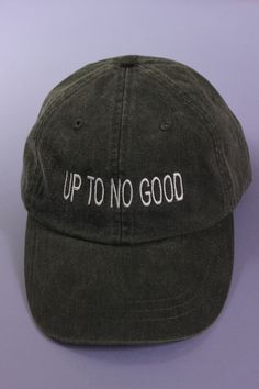 a63392f0665 Up To No Good Black Baseball Cap Wash Baseball Cap