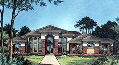 Contemporary Florida Mediterranean House Plan 63309 Elevation