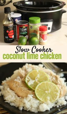 Slow Cooker Coconut Lime Chicken - YUM!