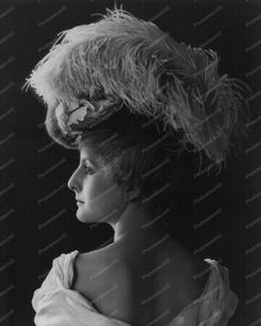 Victorian Woman In Feathered Hat Vintage 8x10 Reprint Of Old Photo