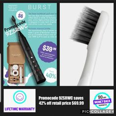 The BURST brush is beautiful in both black and white. Its fantastic sonic action fights surface stains and is designed to make teeth whiter and brighter in just days. Our super soft, charcoal-infused bristles blast plaque and gingivitis, not your gums!  Happy BURSTing!  #BURSTambassador #brushBURST #betterbrushing #burstoralcare #sonictoothbrush #electrictoothbrush #whiteteeth #cleanteeth #dental #oral #health #burstpromocode #discount #smile #whitening