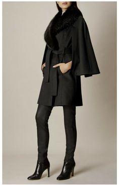 KAREN MILLEN Women/'s Leopard Print Faux Fur Coat sizes XS XL