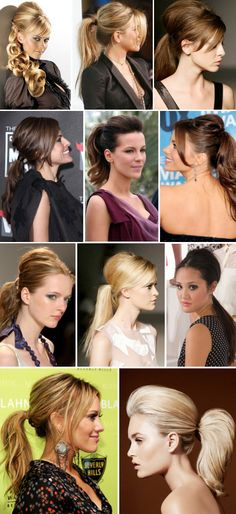 Cute Ponytail Hairstyle Ideas - Low Side, Wrap Around, Twisted, Teased Crown, Braided, Messy, Sleek & Big Ponytails