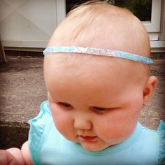 Baby bling headband, handmade. Custom orders accepted. Visit me on Facebook at O So Lovely or at my Etsy shop Oo So Lovely.