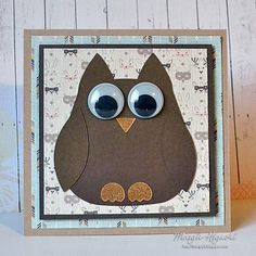 Don't be afraid to use small pieces in your next project. @ilscraps used Adhesive Sheets to cover her cardstock before die-cutting this cute owl die from @spellbinders She assembled her 6 x 6 card with ease and is perfect on a matted card panel of @beauthentique patterned papers. Click for step by step details on how these sheets work.