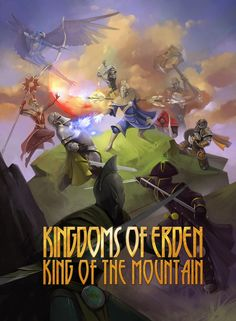 Build a strong faction hand or outlast your friends in this strategy fantasy card game. $10 US. Ages 10+. 2-4 players. 15-45 minutes.Kingdoms of Erden King of the mountain card game now live on kickstarter! www.kickstarter.c... #king #queen #knight #fantasy #medieval #castle #bonfire #golem #treasure #weapons #sword #shield #assassin #blacksmith #infantry #archery #guard #captain #priest #rangers #general #paladin #emperor #empress