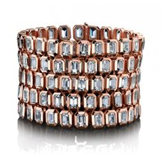 From the Angelina Jolie Jewelry Collection: The-Five-Row-White-Quartz-Bracelet