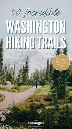 Ready to discover some incredible hiking trails in Washington state? We're sharing the best Washington hikes from the Olympic National Park, Mount Rainier National Park, North Cascades National Park, and even Eastern Washington! Save this post for future PNW hiking inspiration. #washington #hiking #hikingtrrails #PNW #Pacificnorthwest #northcascadesnationalpark #olympicnationalpark #mountrainiernationalpark #cascademountains #seattle