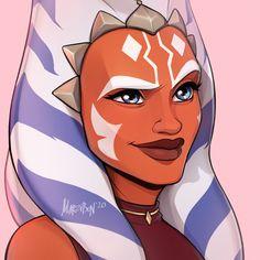 Star Wars Fan Art, Star Wars Clone Wars, Star Wars Rebels, Star Wars Zeichnungen, Star Wars Personajes, Star Wars Drawings, Star Wars Girls, Star Wars Pictures, Ahsoka Tano