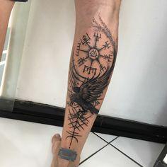 Viking Tattoo Sleeve, Wolf Tattoo Sleeve, Norse Tattoo, Calf Tattoo, Celtic Tattoos, Half Sleeve Tattoos Drawings, Pin Up Tattoos, Leg Tattoos, Tribal Tattoos