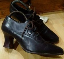 Verdadero Estilo Vintage Marrón 80s en 40s Con Cordones Cuero High Top Zapatos sin usar. 6