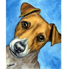 Jack Russell Dog Art 8x10 Original Painting by by DottieDracos @Etsy