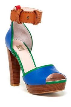 M Missoni Colorblock Platform Sandal