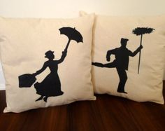 Mary Poppins Pillow Set FREE SHIPPING