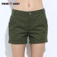 Promoción Mujeres pantalón corto Mini verano delgada de las mujeres de los cortocircuitos ocasionales niñas GK-9311 militares de algodón cortos cuatro colores del envío (China (continental))